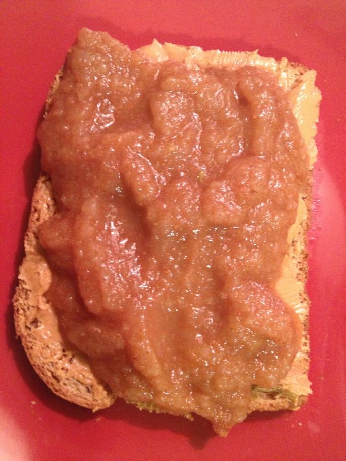 peanut butter applesauce toast