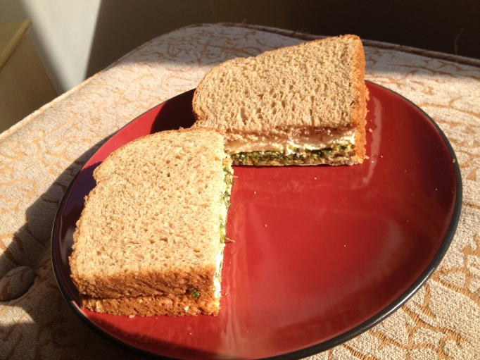 pesto tofu sandwich