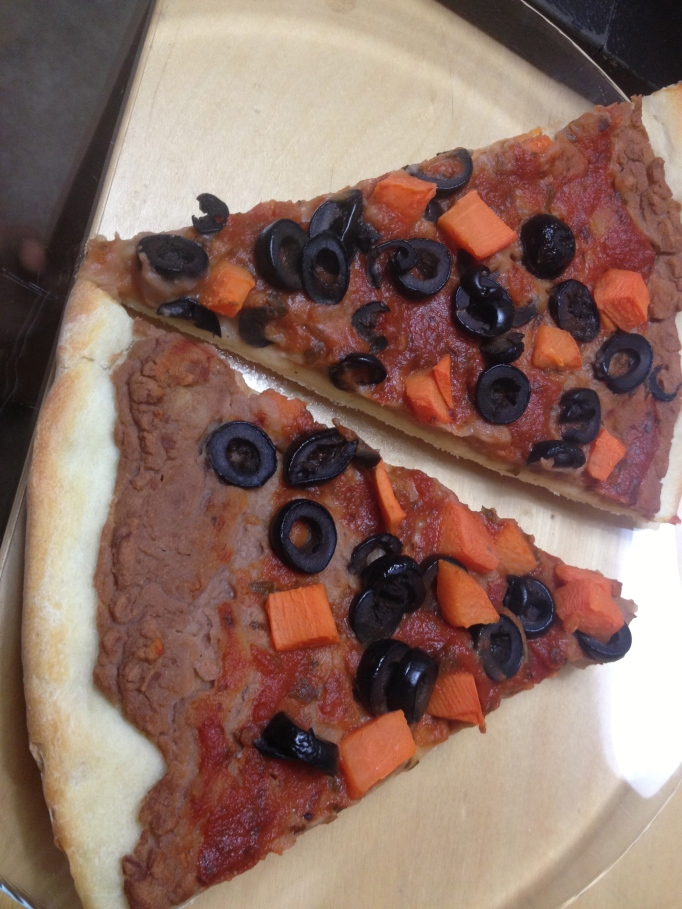 CPK Style Pizza with Sweet Potatoes