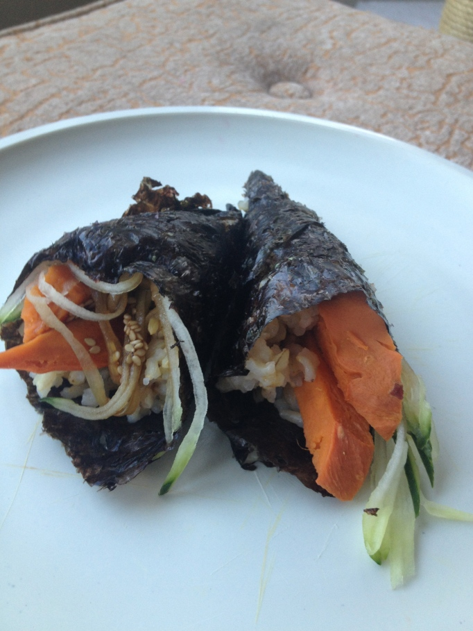 hand rolls with worchestershire sauce