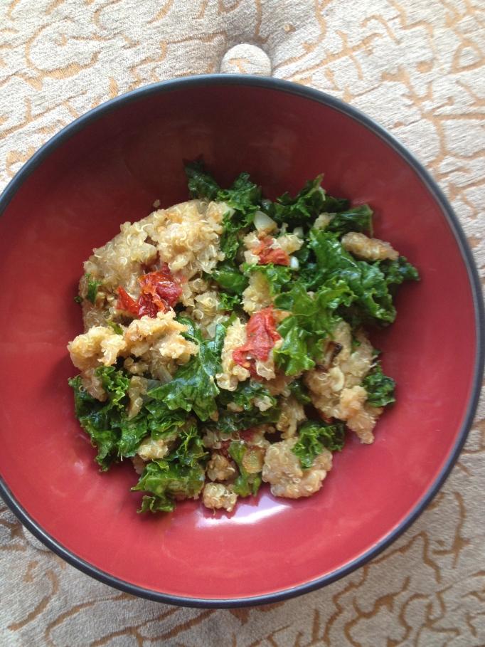 sundried tomato kale quinoa or rice