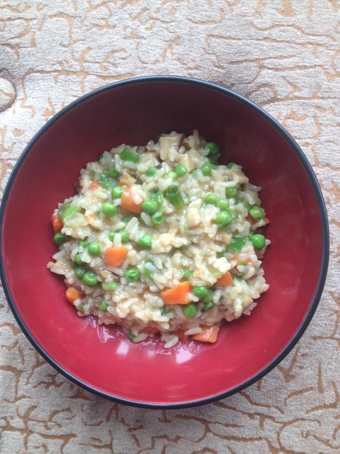 vegan shiitake mushroom risotto