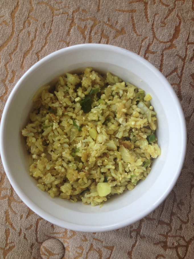 vegan curry fried rice