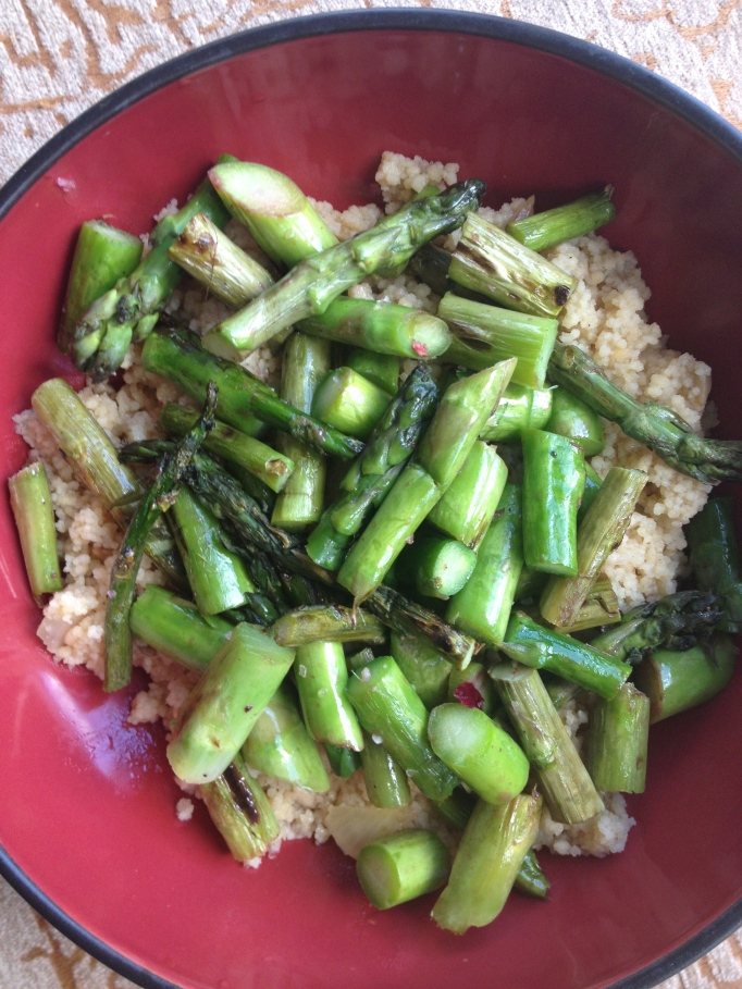 asparagus and couscous