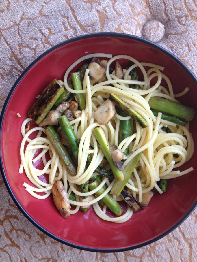 asparagus mushroom lemon pasta