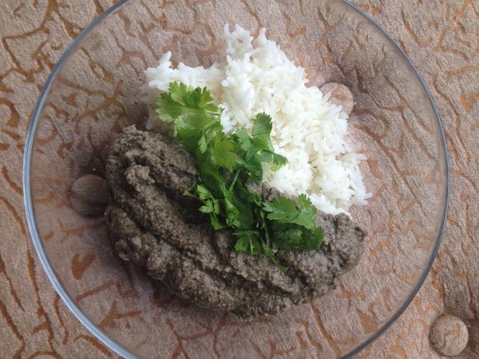 vegan black lentil curry