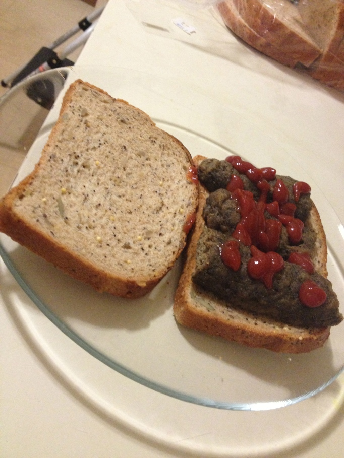 chewy black lentil vegan sausages