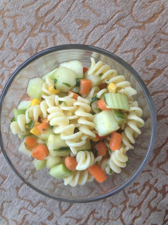 fat free vegan cucumber pasta salad