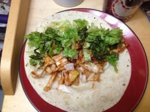 vegan jackfruit bbq taco