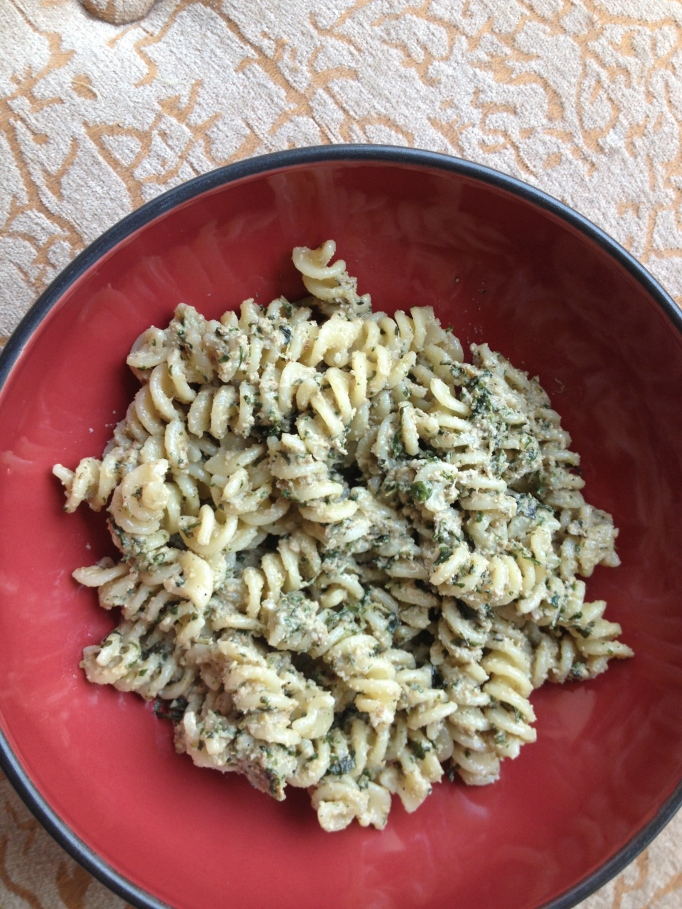 vegan walnut pesto noodles
