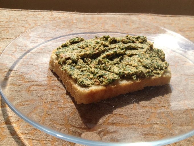 vegan kale pesto spread
