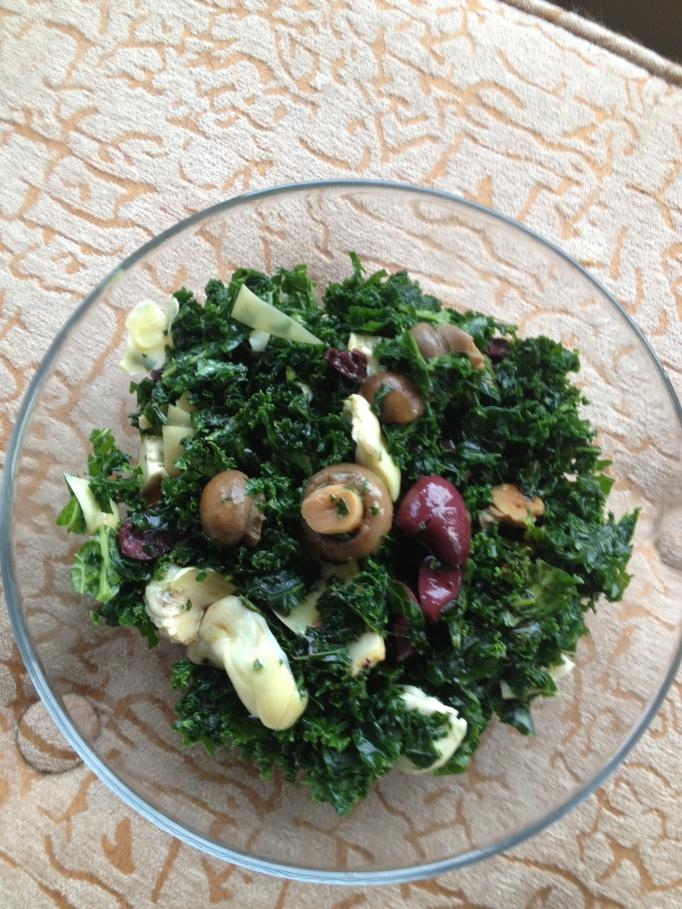 kale antipasto no pasta salad vegan