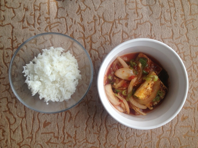 hot and sour vegan tofu