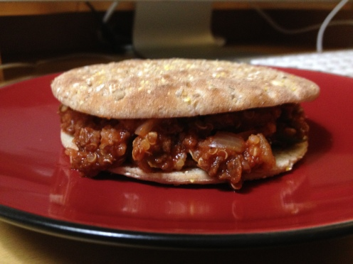 Daily Vegan Lunch for 7 August, 2013: Quinoa TVP Sloppy Joes