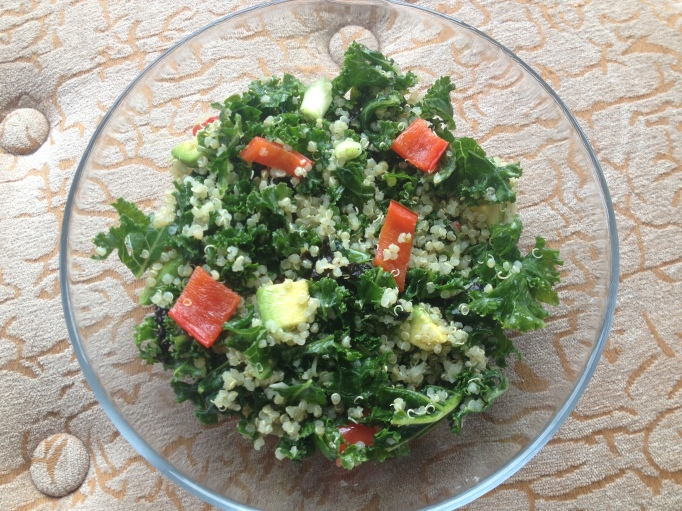vegan kale quinoa salad