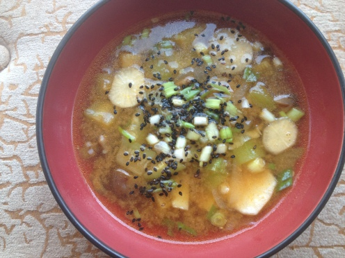 Daily Vegan Lunch for 21 August, 2013: Spicy Korean Potato Daikon Soup