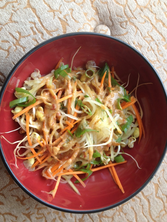 vegan sprout salad thai style