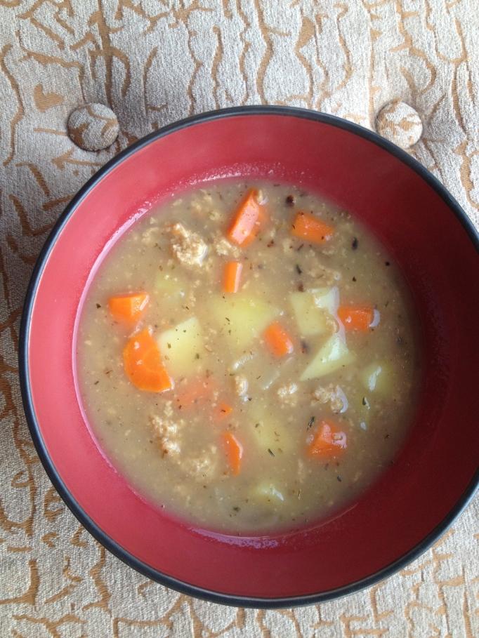 vegan home style seitan stew