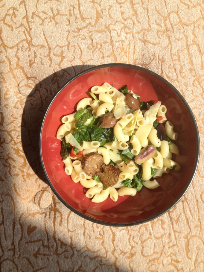 vegan antipasto macaroni salad