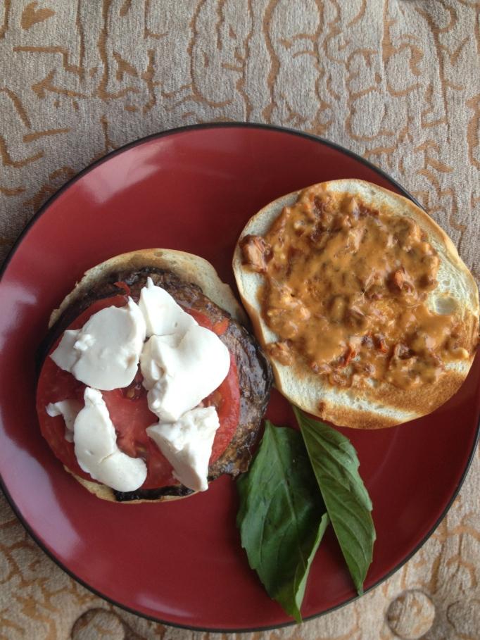 portabella burger with chipotle mayonnaise