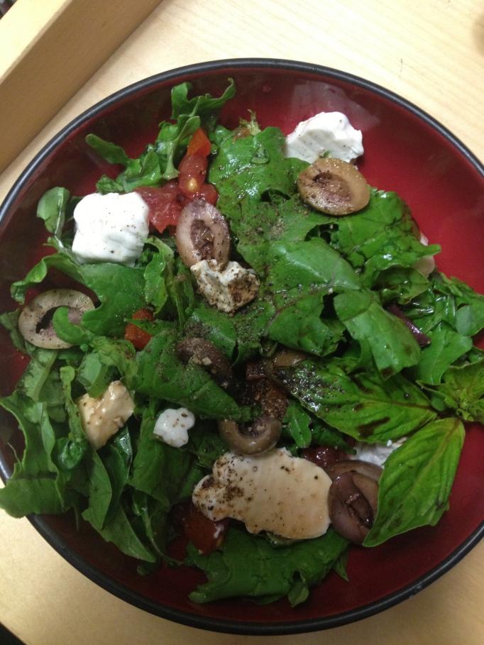 vegan caprese salad