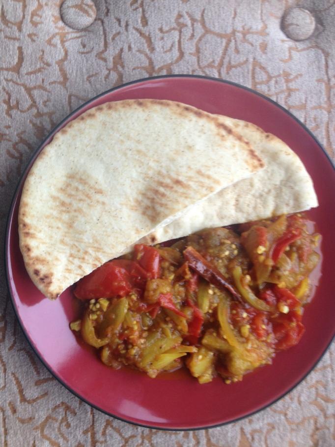 vegan indian less oil eggplant masala