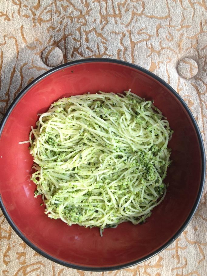 vegan raw broccoli pesto