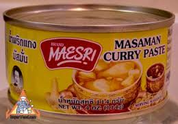 can of massaman curry seasoning, vegan no palm oil