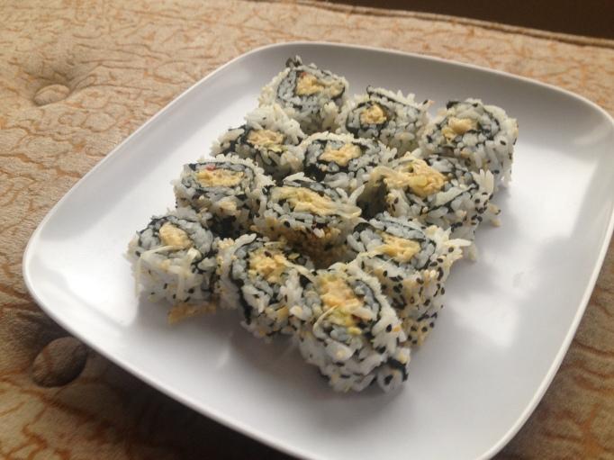 vegetarian sushi no dairy no meat crab sushi jackfruit