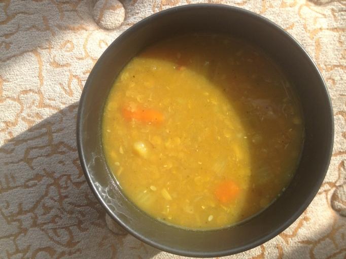 red lentil pumpkin curry soup