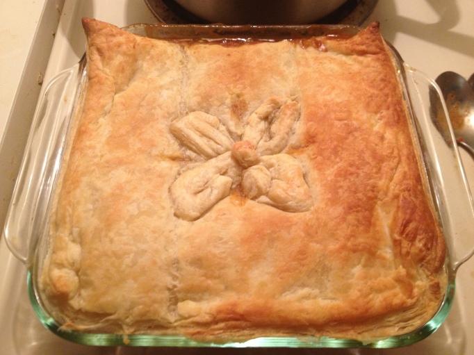 vegan shepherd's pie with puff pastry