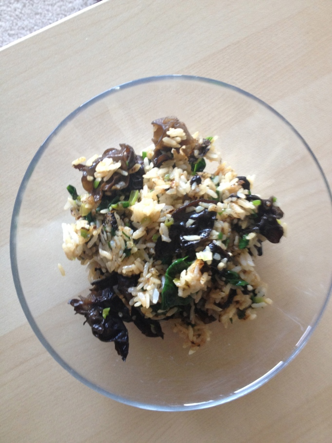 vegan cloud ear mushroom fried rice