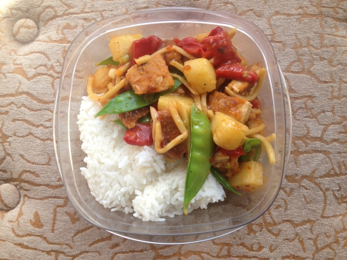sweet and sour vegan gardein chicken