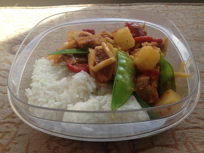 sweet and sour vegan gardein chicken