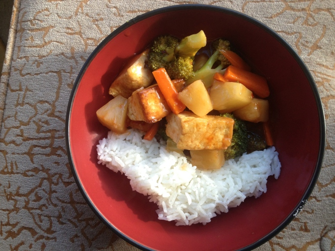 sweet sour vegan tofu