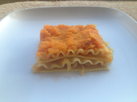 Daily Vegan Lunch for 19 November, 2013: Lazy Pierogi (Sauerkraut and Sweet Potato Lasagna)