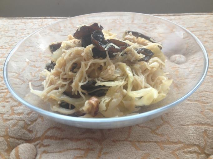 double mushroom noodles vegan