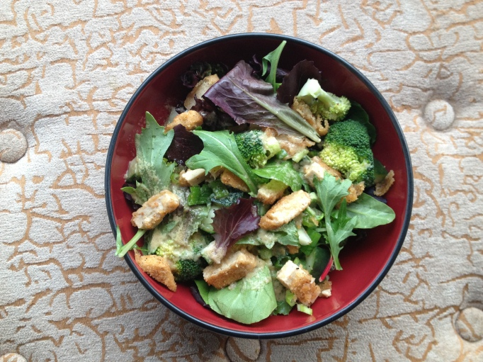 unchicken salad tahini-miso dressing