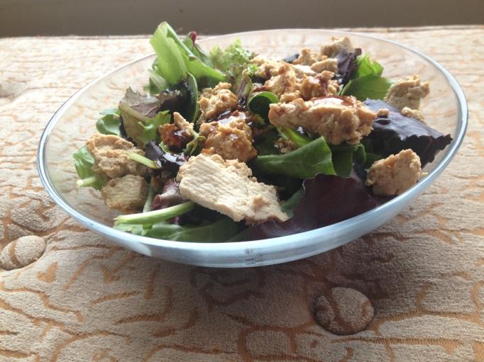 teriyaki unchicken salad vegan