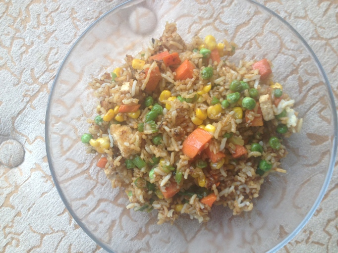 un-chicken fried rice vegan