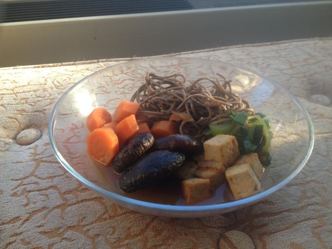 vegan sukiyaki japanese tofu hotpot