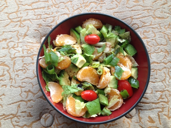 Daily Vegan Lunch for 26 December, 2013: Avocado Mandarin Salad