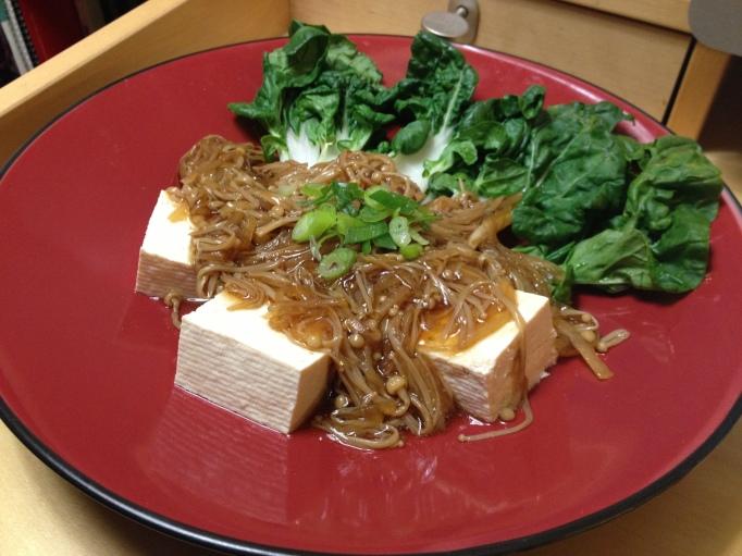 tofu enokitake